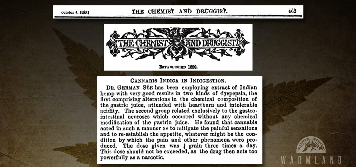 Cannabis Indica in Indigestion (1890)
