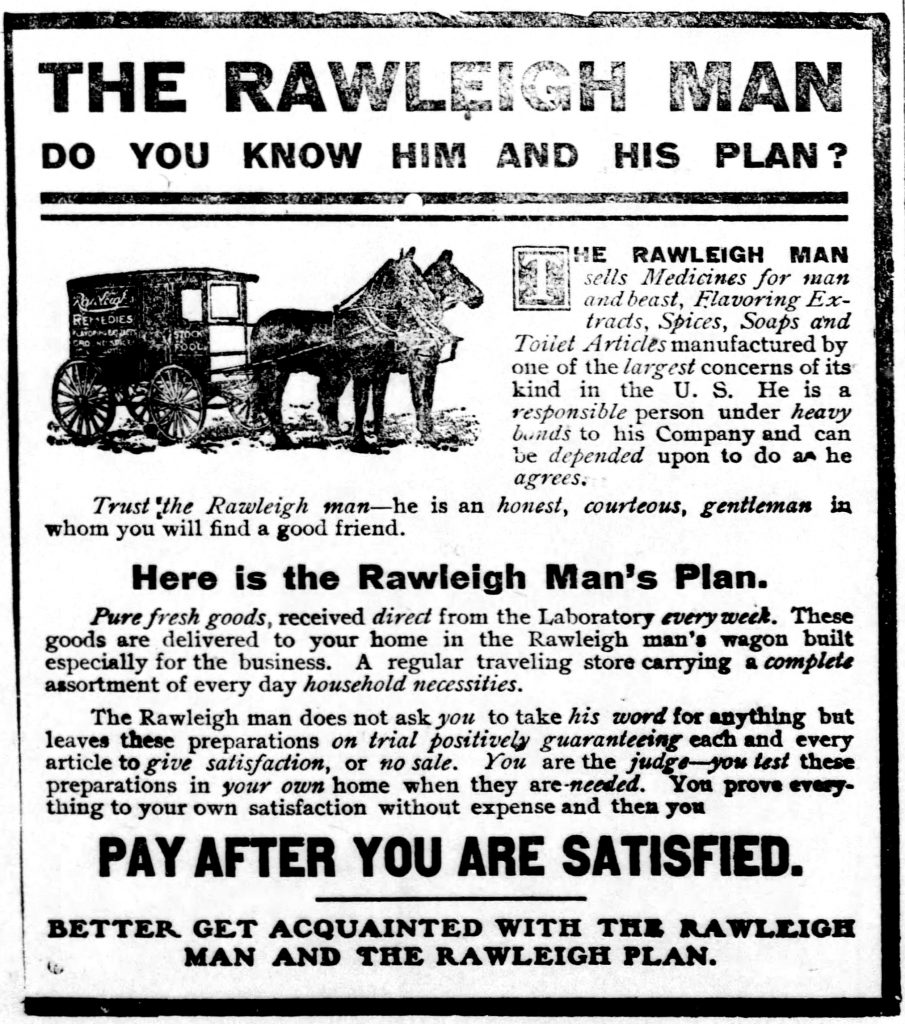 Rawleigh Man - Know Him and His Plan