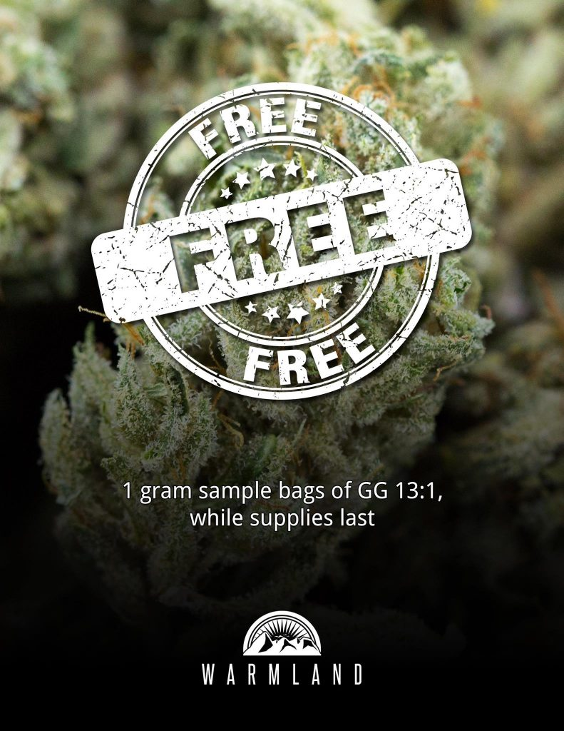 Free Gram of CBD Cannabis Flowers