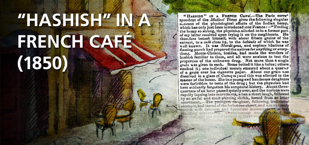 1850 Hashish in a French Cafe