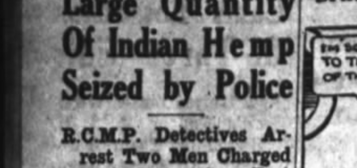 Large Quantity of Indian Hemp Seized (1932)