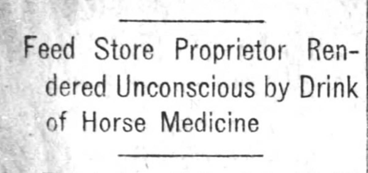 Cannabis Horse Medicine (1920)