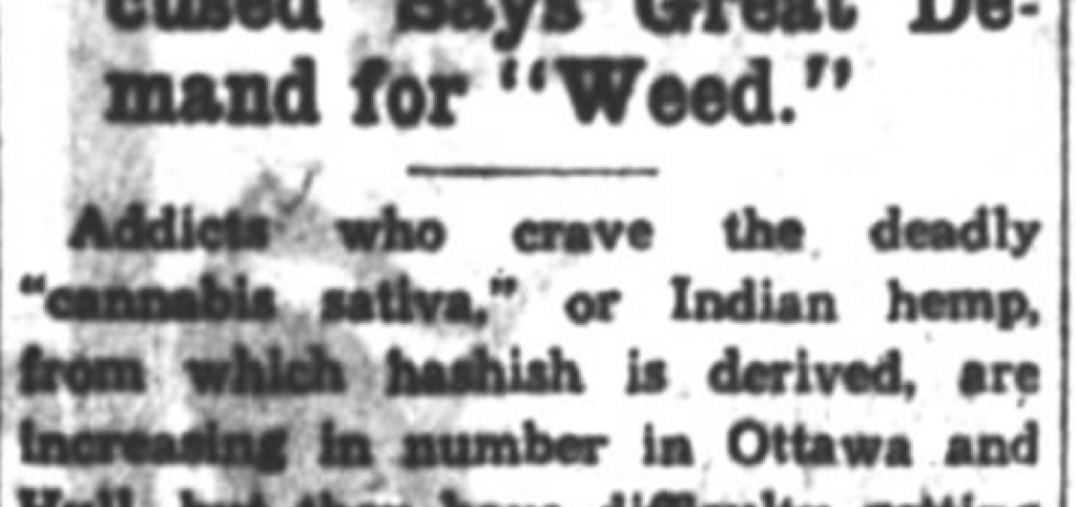 Ottawa Demands Weed in 1932